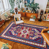 vintage handmade rug model 8 with geometric patterns