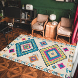 vintage handmade rug model 15 with geometric patterns