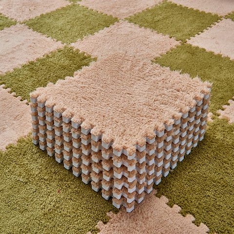 Elegant Folding Soft Plush Rug 30 x 30cm Each Piece