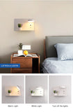Wall sconce bedroom white 2