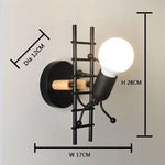 Wall sconce black model
