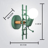 Wall sconce green model
