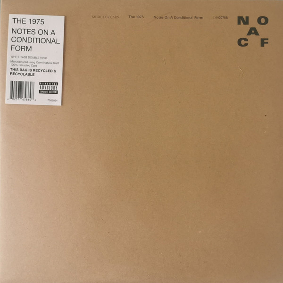 The 1975 - Notes On A Conditional Form - BROKEN 8 RECORDS