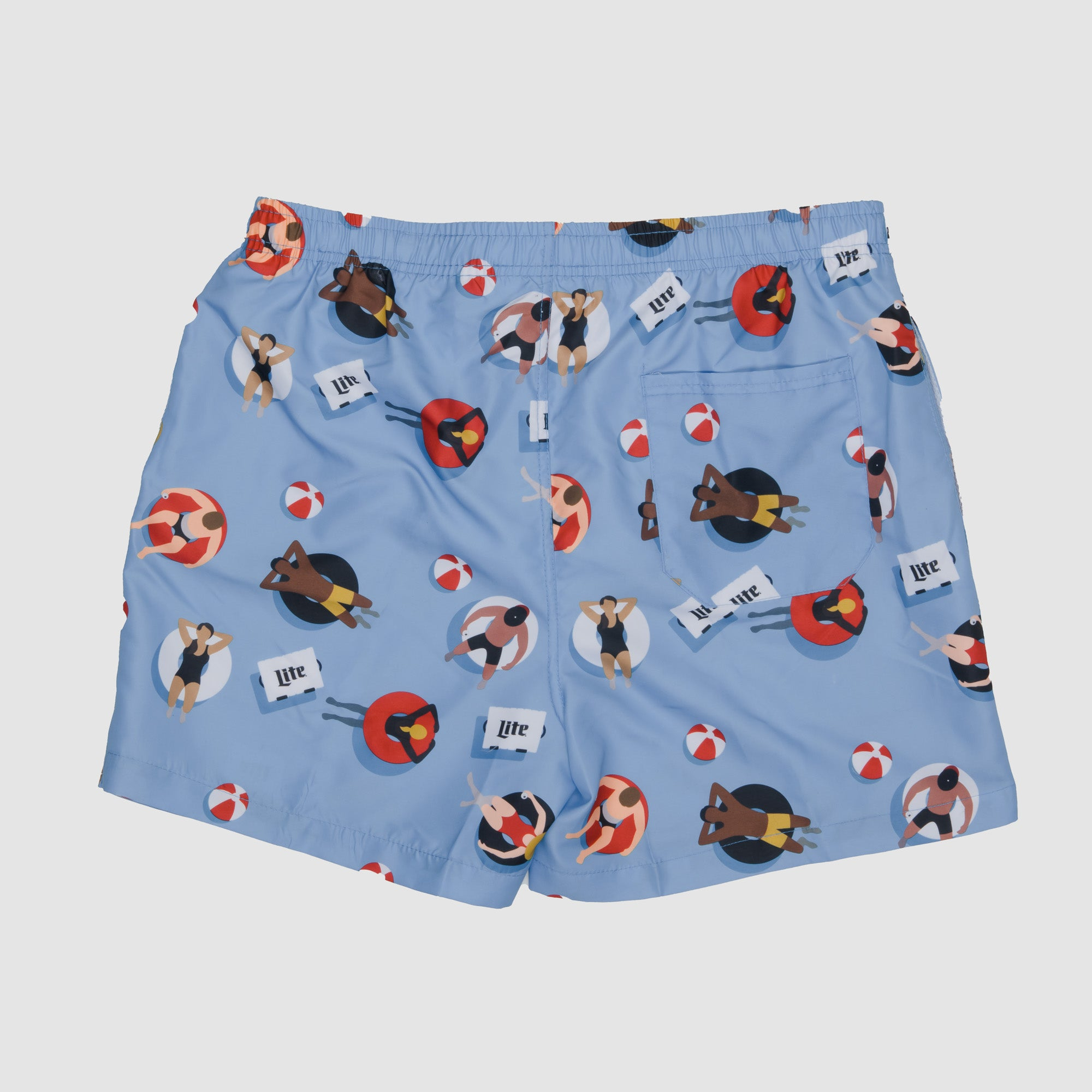 SUMMER PRINT SWIM TRUNKS