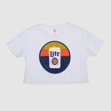 WOMENS SUNSET CROP TEE