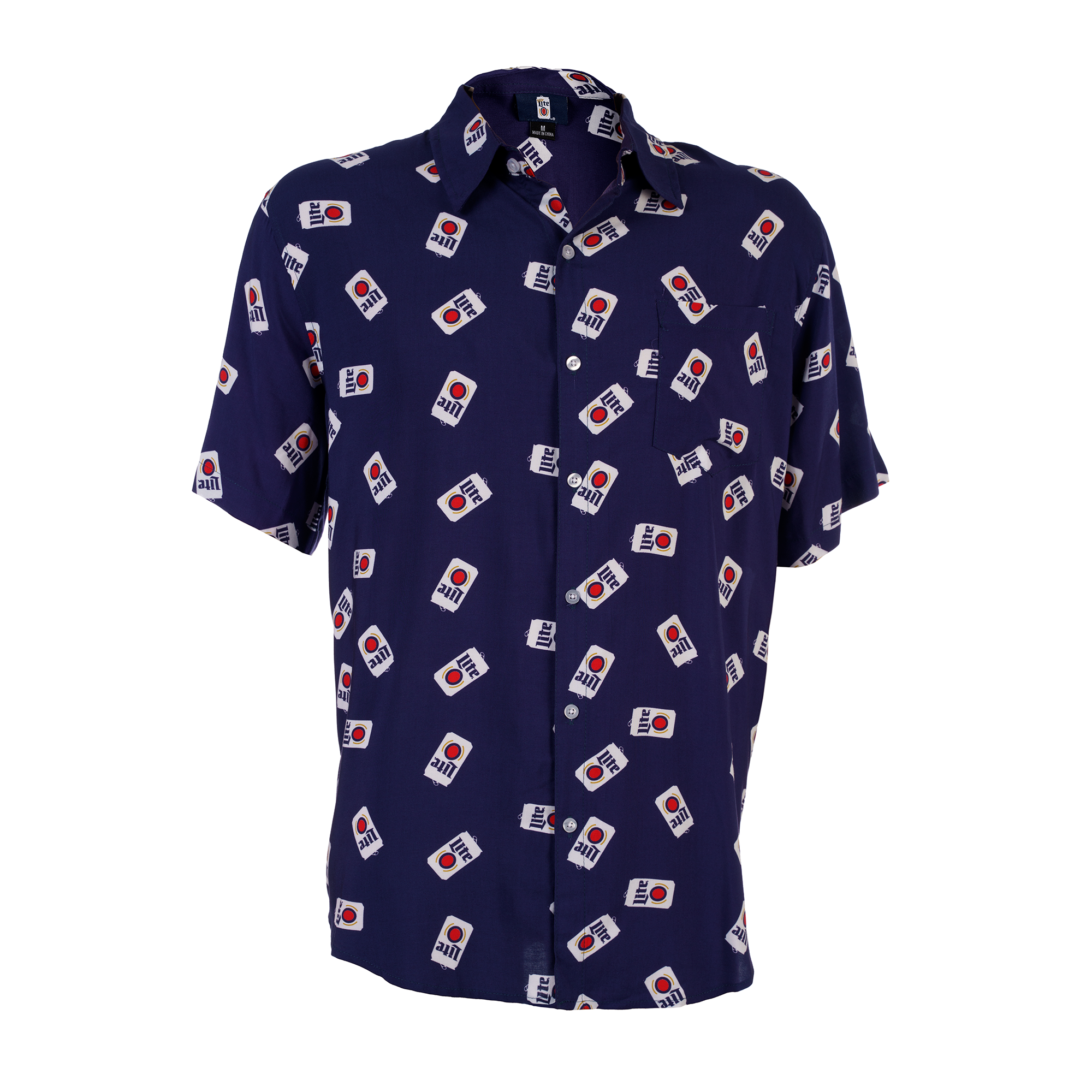MILLER LITE SHORT SLEEVE UNISEX BUTTON UP