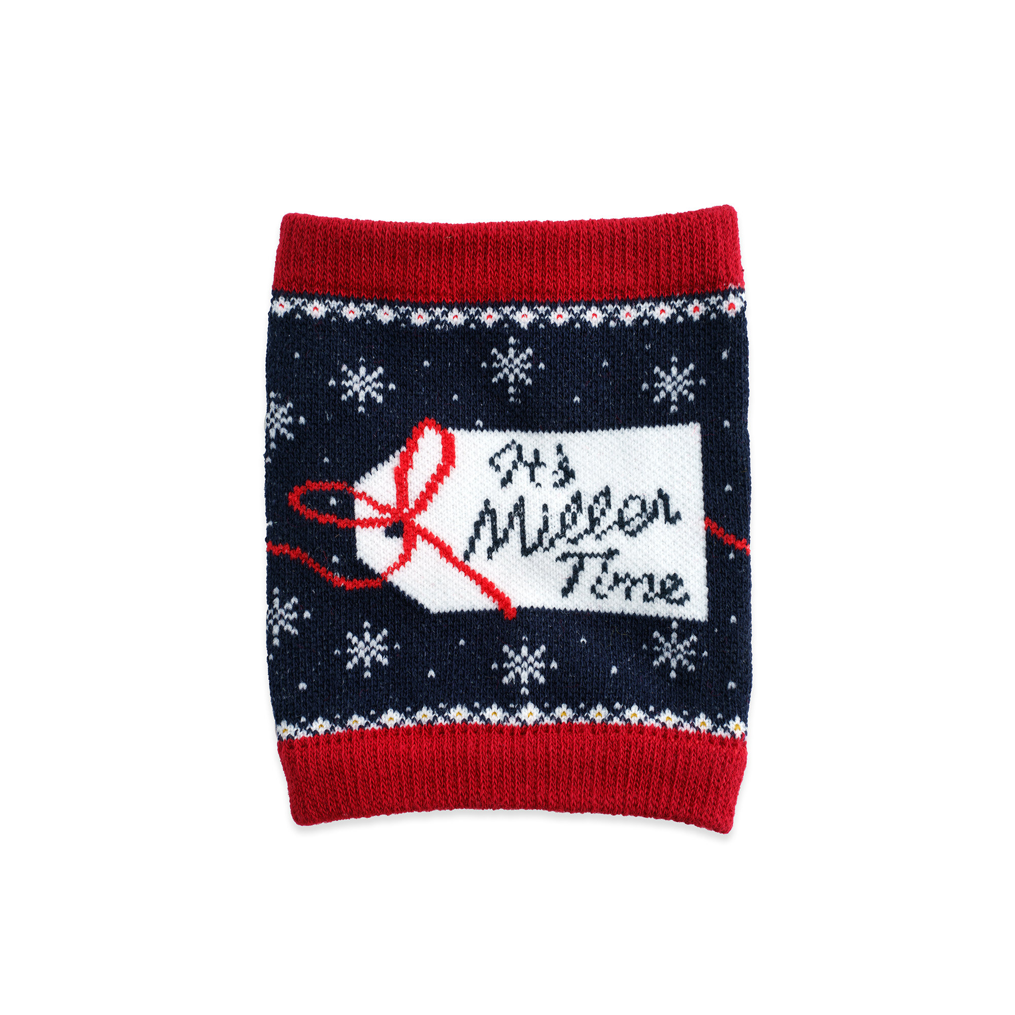 MILLER LITE UGLY SWEATER KNIT BEVERAGE WRAP