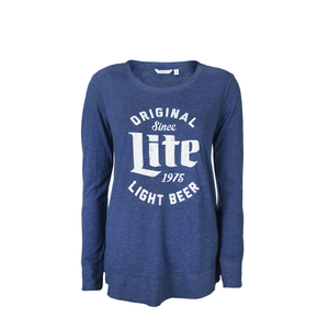 WOMENS MILLER LITE ORIGINAL FLARE LONG SLEEVE