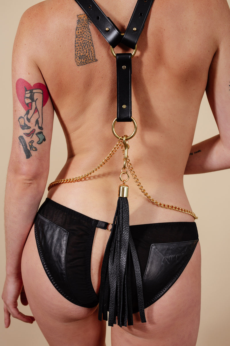 Something Wicked Nina Leather Ponytail Tassel