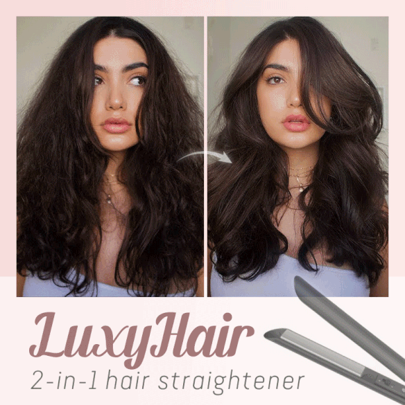 Luxy Hair 2-in-1 Hair Straightener