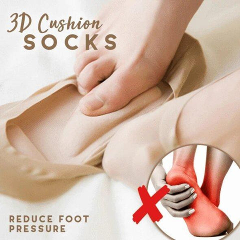 3D Cushion Socks (Pack Of 2)