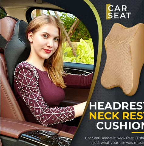 Image of Car Seat Headrest Neck Rest Cushion