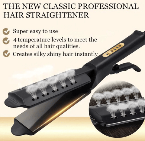Professional Ceramic Tourmaline Hair Straightener With - Four Gear Temperature Adjustment