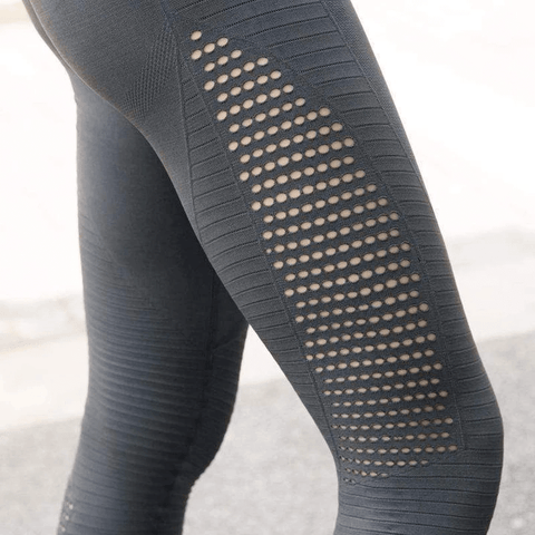 Image of Breathable Squat-proof 4D Leggings (Pack of 3 - Black+Grey+Blue)