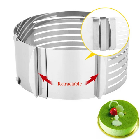 Image of Adjustable Stainless Steel Cake Slicer