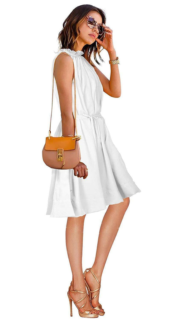 Women's Crepe Skater Midi Dress - White