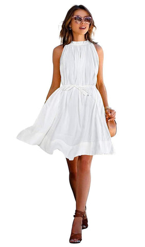 Image of Women's Crepe Skater Midi Dress - White