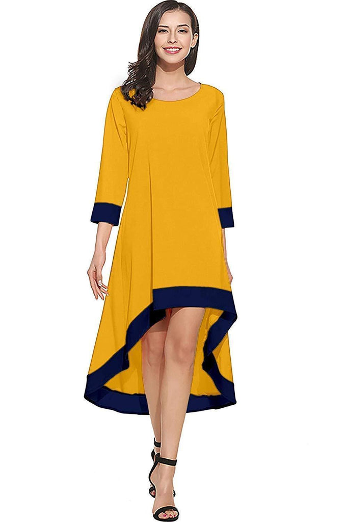 Crepe Full Stitched Western Skater Fit and Flare Dress