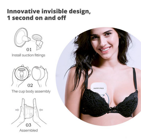 Image of SMART WEARABLE AUTOMATIC BREAST PUMP
