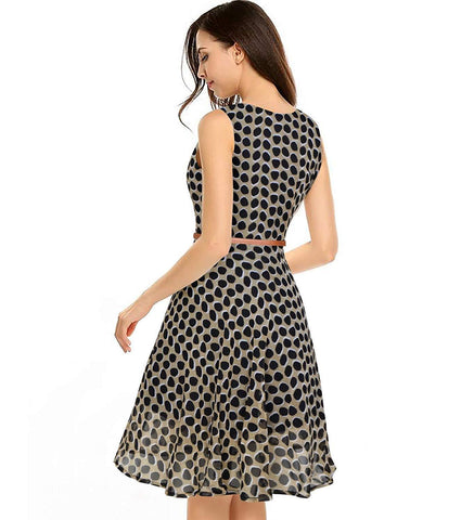 Image of Georgette Full Stitched Western Dress Black