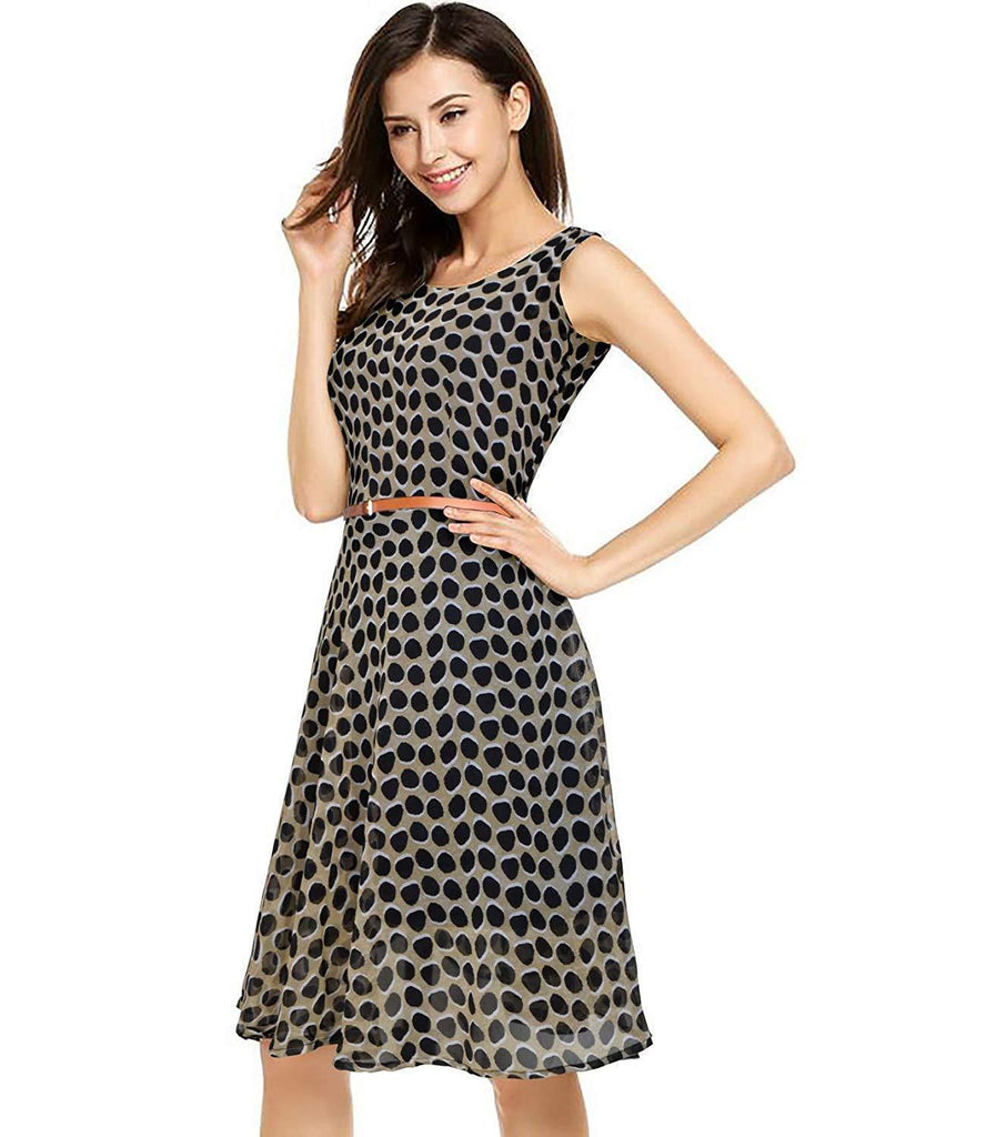 Georgette Full Stitched Western Dress Black