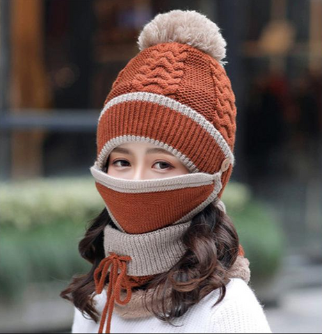 Image of Womens Winter Scarf Set