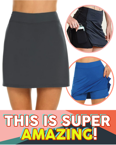 Image of Anti-Chafing Double-Layer Skort