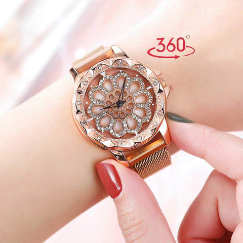 360 Degree Rotating Diamond Watch