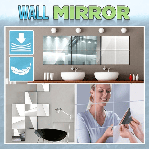 Image of Mirror Wall Stickers (16 PCS)