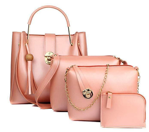 Image of 4 In 1 Leather Shopper Tote Bag (2020)