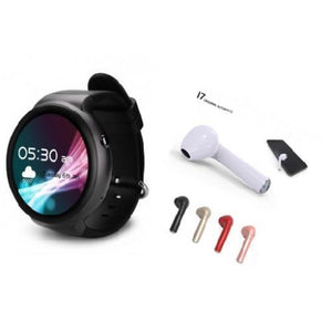 SMART WATCH + PAIR OF BLUETOOTH HEADSET HBQI7 (FREE)