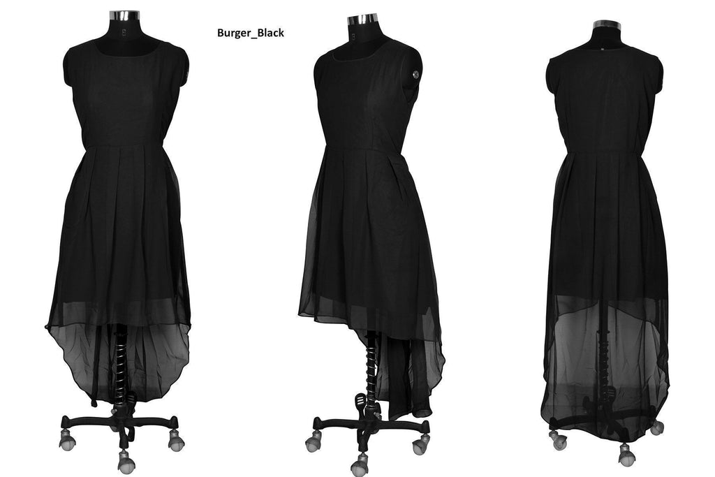 Burger Black Skater Dress