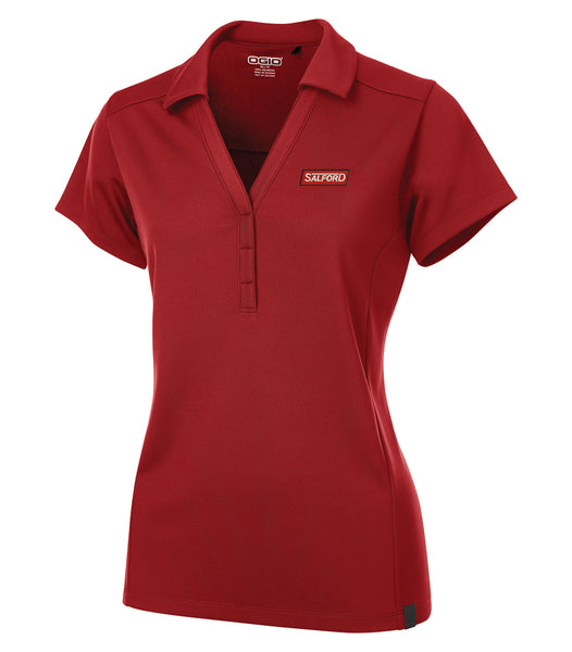 OGIO® Ladies Red V-Neck Polo - Red