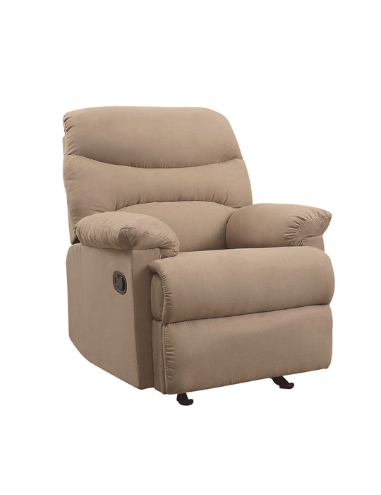 Arcadia Light Brown Microfiber Recliner (Motion)