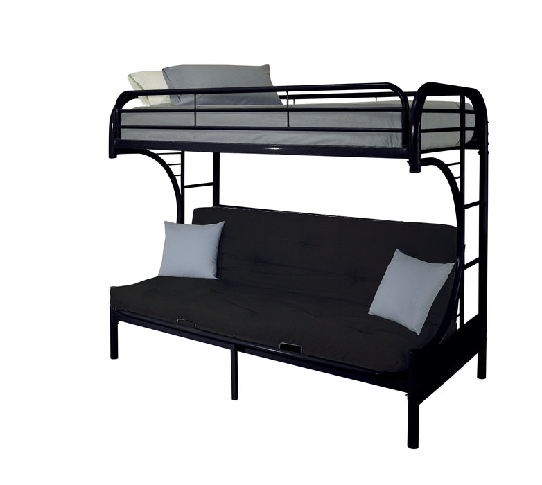 Eclipse Black Bunk Bed (Twin/Full/Futon)