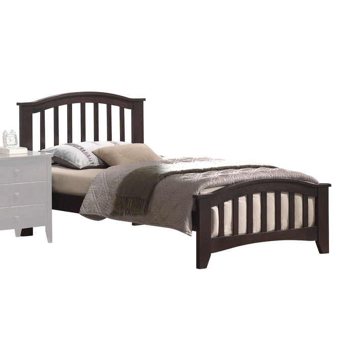 San Marino Dark Walnut Twin Bed