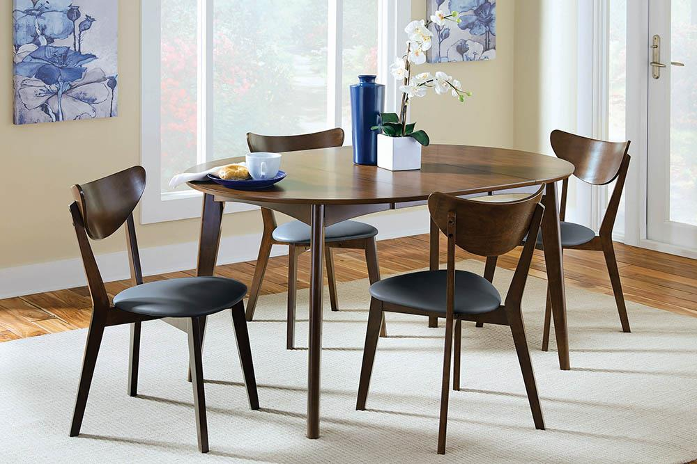 G105361 Malone Mid-Century Modern Dark Walnut Dining Table image
