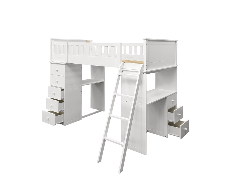 Willoughby White Loft Bed