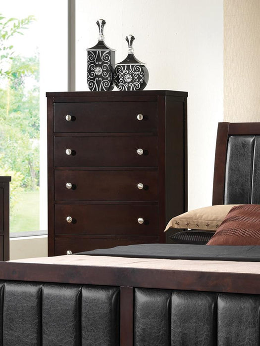 Carlton Cappuccino Five-Drawer Chest image