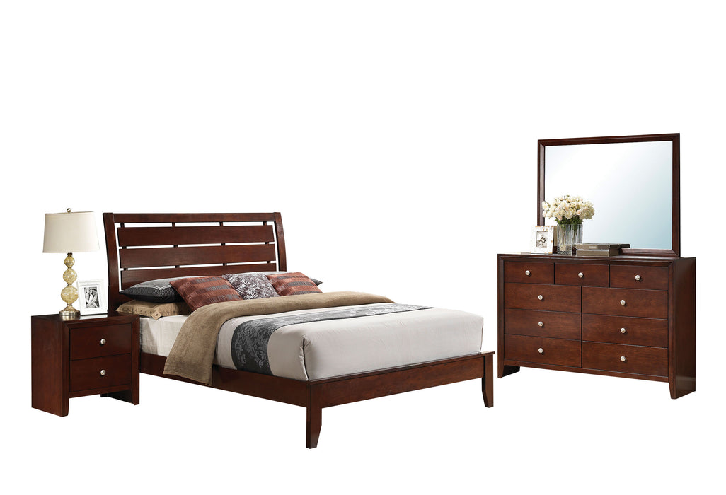 Ilana Brown Cherry Eastern King Bed