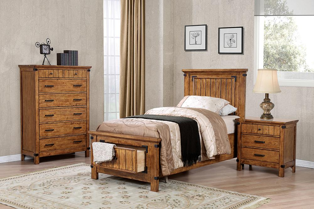 Brenner Rustic Honey Twin Five-Piece Set image