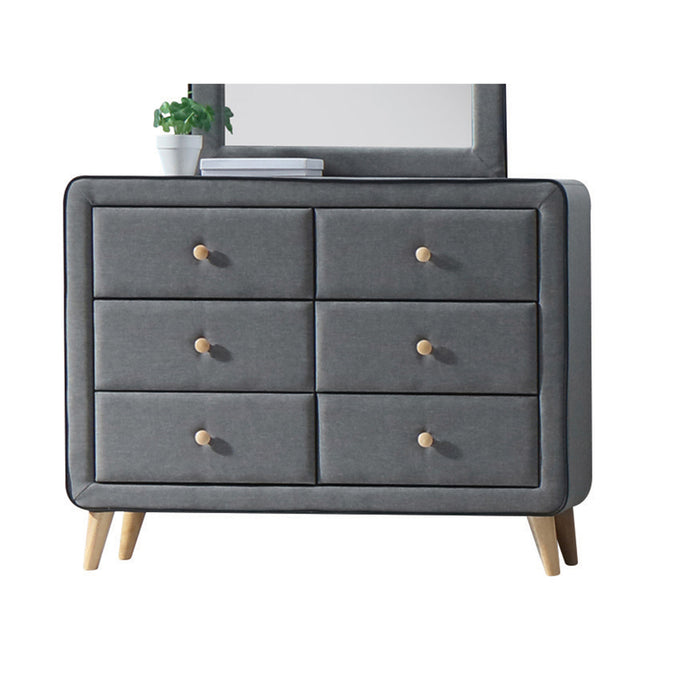 Valda Light Gray Fabric Dresser