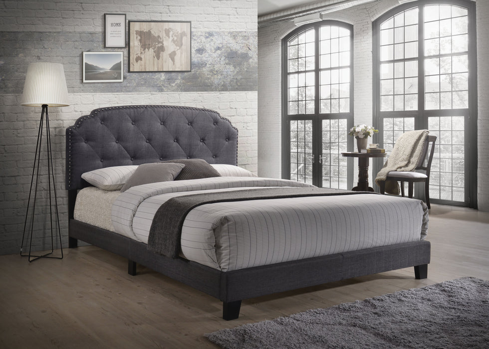 Tradilla Gray Fabric Queen Bed