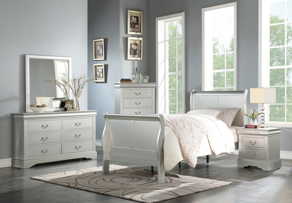 Louis Philippe III Platinum Twin Bed