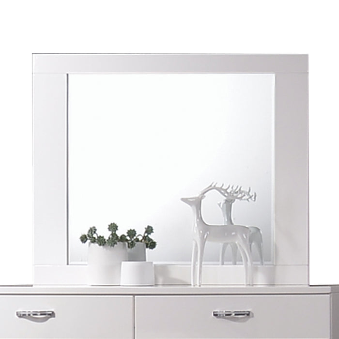 Naima II White High Gloss Mirror