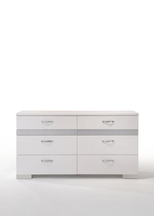 Naima II White High Gloss Dresser