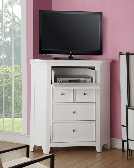 Lacey White TV Stand