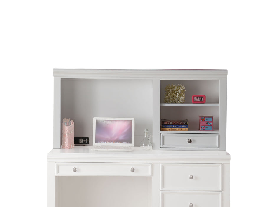 Lacey White Computer Hutch
