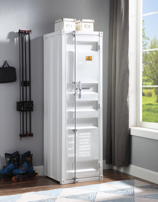 Cargo White Wardrobe (Single Door)