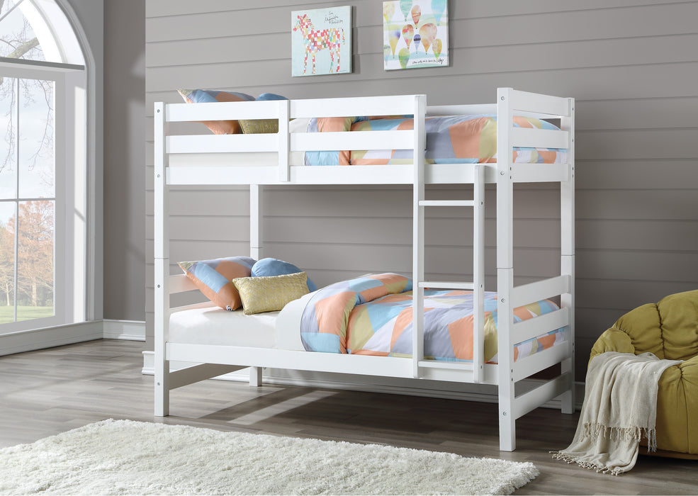 Ronnie White Bunk Bed (Twin/Twin)